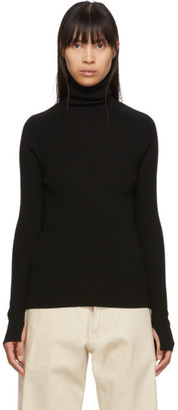 Studio Nicholson Black Fitted Pico Turtleneck