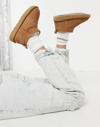 UGG Classic Ultra Mini ankle boots in chestnut