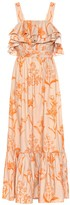 Johanna Ortiz Tropical Waves cotton maxi dress