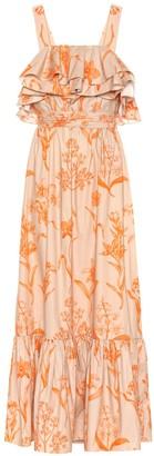 Johanna Ortiz Tropical Waves cotton maxi dress