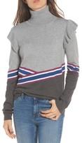 Hinge Women's Colorblock Turtleneck Sweater