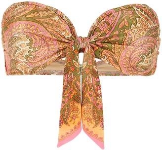 Zimmermann Brighton Scarf Tie Bikini Top
