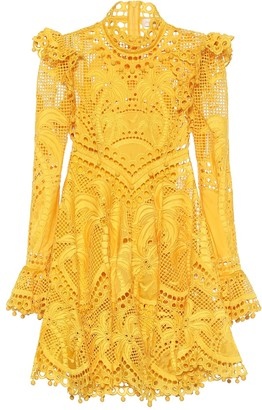 Zimmermann Brightside Palm silk minidress