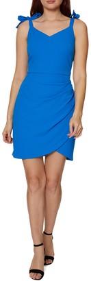 Betsey Johnson Shoulder Tie Solid Dress