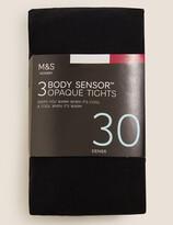Marks and Spencer 3 Pair Pack 30 Denier Body Sensor Tights