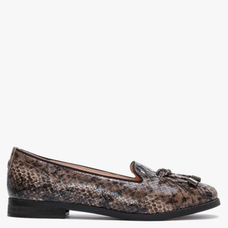 Moda In Pelle Elissy Taupe Reptile Loafers