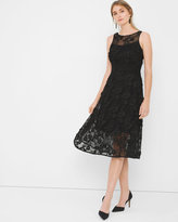 White House Black Market Black Lace Fit-and-Flare Dress