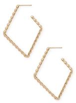 Paolo Costagli 18K Yellow Gold with Diamond-Shaped Hoop Earrings
