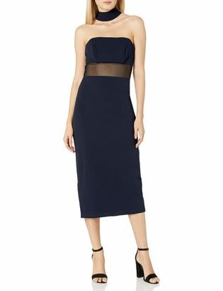 ABS by Allen Schwartz Women's Fitted Dress with Choker Neckline in Stretch Crepe Scuba
