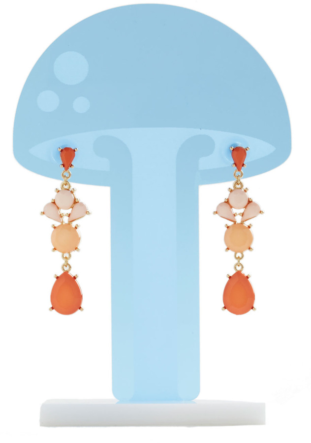 Coral It a Day Earrings