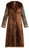 Vetements Inside-out Belted Fur Coat - Womens - Brown Multi