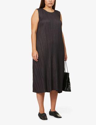 Pleats Please Issey Miyake Mellow pleated woven midi dress