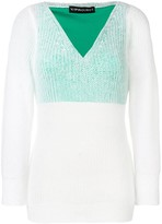 Y/Project off-shoulder layered sweater