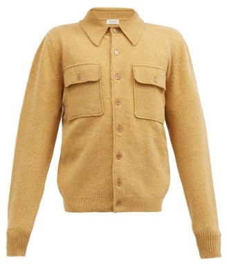 Lemaire Patch-pocket Wool Cardigan - Beige