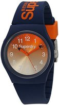 Superdry 'Urban Laser' Quartz Plastic and Silicone Dress Watch, Color:Blue (Model: SYG198UO)