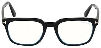Tom Ford 53MM Square Blue Block Optical Glasses