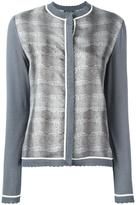 Salvatore Ferragamo striped snake effect cardigan - women - Silk/Cotton - M