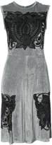 Yigal Azrouel embroidered flared dress - women - Polyamide/Spandex/Elastane/Viscose - 0
