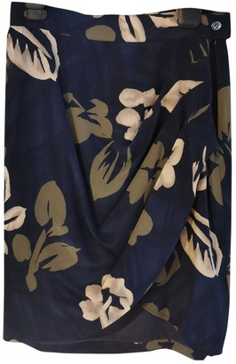 Max Mara Blue Silk Skirt for Women