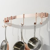 Crate & Barrel Enclume ® Copper-Plated Curved Wall Rack