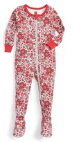 Tea Collection Infant Girl's Ikebana Fitted One-Piece Pajamas