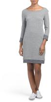 Three Quarter Sleeve Marled Dress