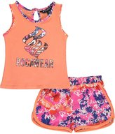 """Rocawear Baby Girls' """"Dolphin-Trimmed Logo"""" 2-Piece Outfit"""