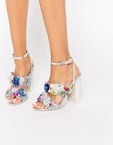 Asos SALON HEROISM Embellished Heeled Sandals