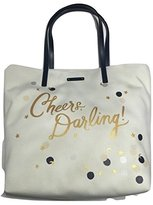 Kate Spade Cheers Darling Chestnut Street Canvas Bon Shopper Tote