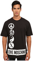 Love Moschino Peace Logo Over Fit Tee