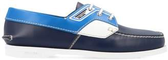 Prada Lace Up Boat Loafers