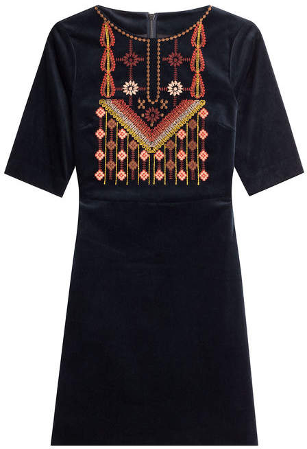 MiH Jeans Embroidered Cotton Dress