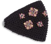 Jennifer Behr Snowdrop Crystal-Embellished Wool Kerchief