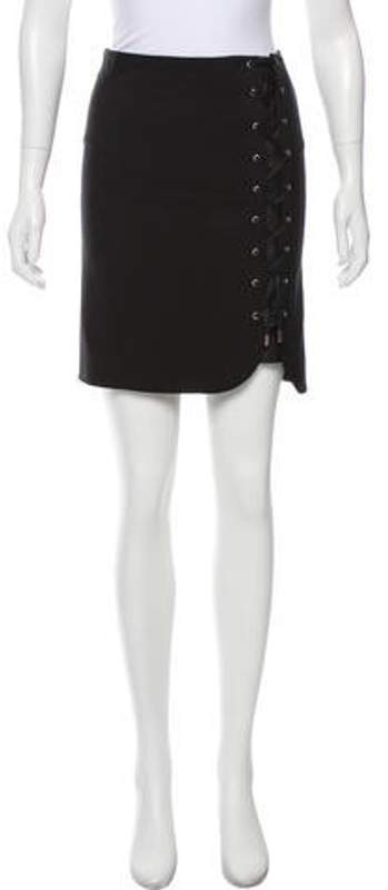 c7ca3def Lace-Up Mini Skirt Black Lace-Up Mini Skirt