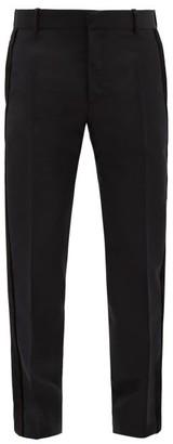 Alexander McQueen Tailored Wool-blend Tuxedo Trousers - Black
