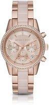 Michael Kors Ritz Rose Gold-Tone & Blush Stainless Steel Chronograph Bracelet Watch