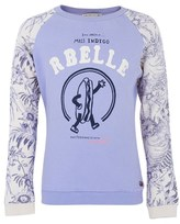 Scotch R'Belle Hot Dog and Floral Sweatshirt