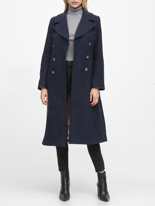Banana Republic Italian Melton Long Coat