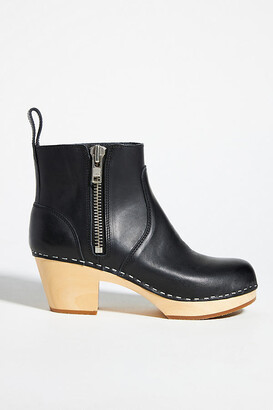 Swedish Hasbeens Emy Clog Boots By in Black Size 40