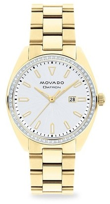 Movado Heritage Series Datron Diamond & Yellow Goldplated Stainless Steel Bracelet Watch
