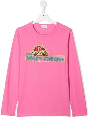 The Marc Jacobs Kids embellished logo T-shirt