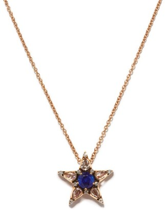 Selim Mouzannar Sapphire, Diamond & Pink-gold Istanbul Necklace - Blue