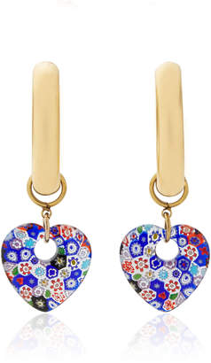 Millefiori Brinker & Eliza Lolita 24K Gold-Plated And Heart Hoop Earrings