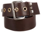 Prada Leather Studded Belt