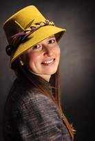 Kate Davison - Milliner Peach Bloom Wool Felt Hat