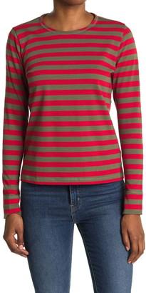 Ganni Striped Cotton Jersey Pullover