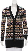 M Missoni Merino Wool Patterned Cardigan