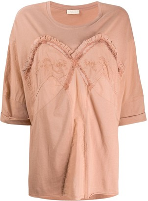 Mes Demoiselles oversized embroidered T-shirt