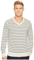 Nautica 12 Gauge Striped V-Neck Men's Sweater