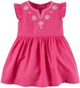 Carter's Embroidered Dress (Baby) - Pink - Newborn